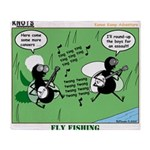 Fly Fishing Throw Blanket