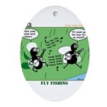 Fly Fishing Ornament (Oval)