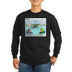 Swimming Long Sleeve Dark T-Shirt