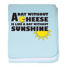A Day Without Cheese baby blanket
