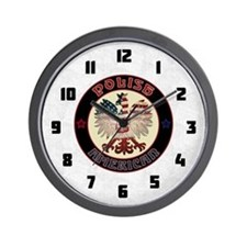 Polish American Eagle Wall Clock