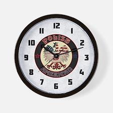 Polish American Eagle Wall Clock