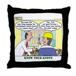 Nuclear KNOTS Throw Pillow