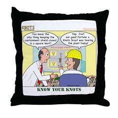 Nuclear KNOTS Throw Pillow