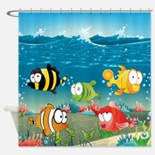 Cute Fun Fish Shower Curtain