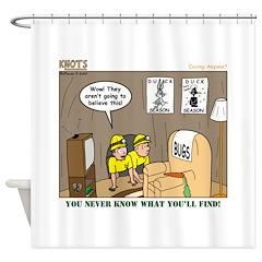 Caving Shower Curtain