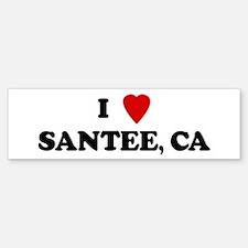 I Love SANTEE Bumper Bumper Bumper Sticker