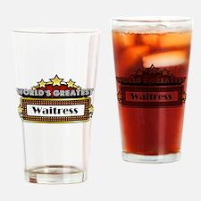 World's Greatest Waitress Drinking Glass