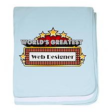 World's Greatest Web Designer baby blanket