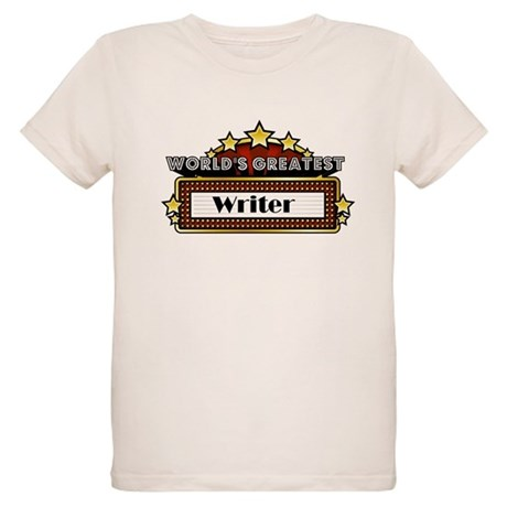 World's Greatest Writer Organic Kids T-Shirt