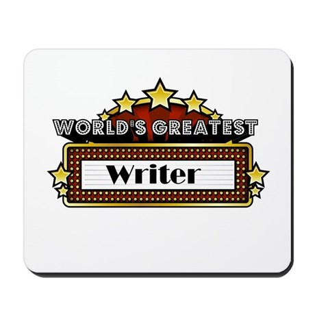 World's Greatest Writer Mousepad