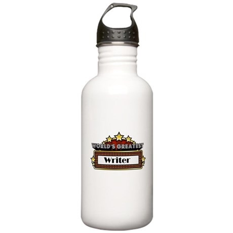 World's Greatest Writer Stainless Water Bottle 1.0
