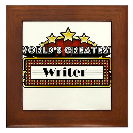 World's Greatest Writer Framed Tile