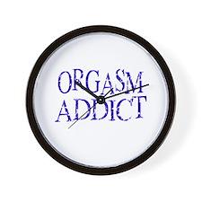 Orgasm Addict Wall Clock