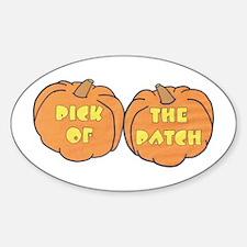 Halloween Pumpkin Patch Oval Decal