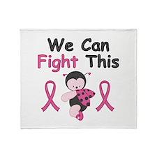 Fight BCA Ladybug Throw Blanket