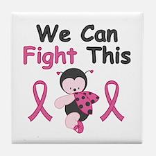 Fight BCA Ladybug Tile Coaster