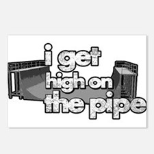 I GET HIGH ON THE PIPE Postcards (Package of 8)