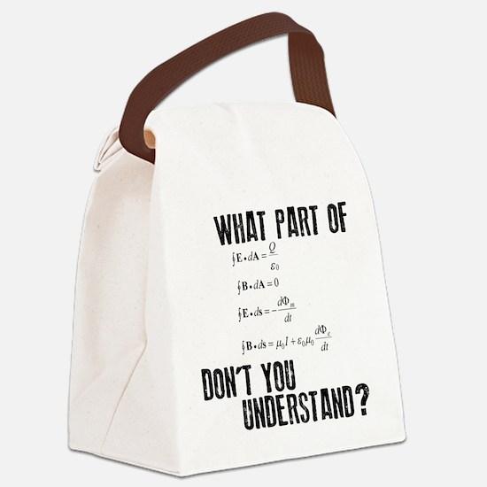 Maxwells Equation Canvas Lunch Bag