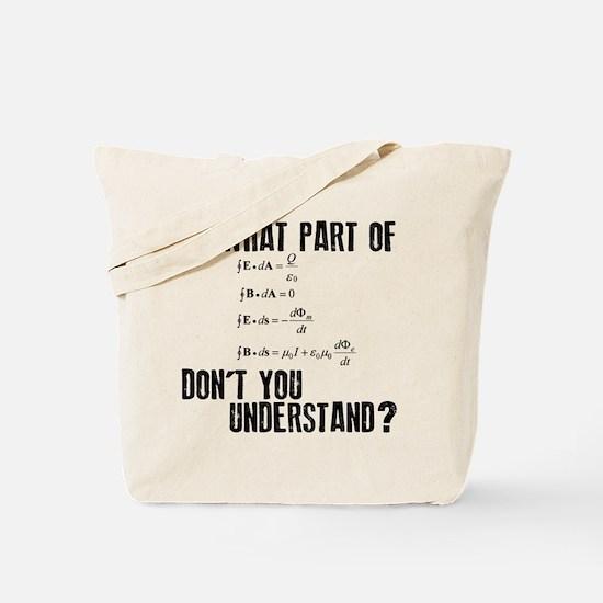 Maxwells Equation Tote Bag