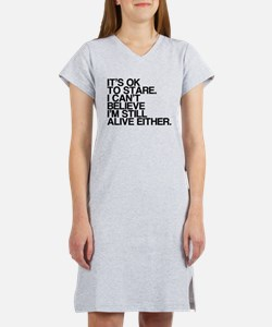 Old, OK To Stare, Funny Women's Nightshirt