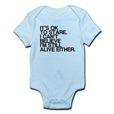 Old, OK To Stare, Funny Infant Bodysuit