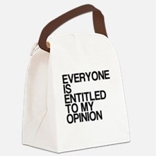 Funny, My Opinion, Canvas Lunch Bag