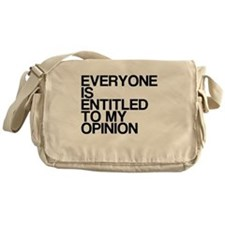 Funny, My Opinion, Messenger Bag