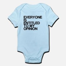 Funny, My Opinion, Infant Bodysuit
