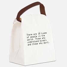 Funny, Binary Canvas Lunch Bag