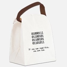 Nerd, Binary Canvas Lunch Bag