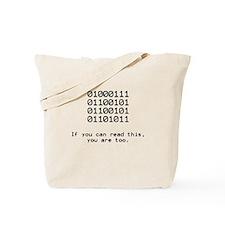 Nerd, Binary Tote Bag