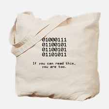 Nerd, Binary Tote Bag