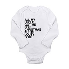 Uncle, Lousy Christmas Gift, Long Sleeve Infant Bo