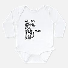 Uncle, Lousy Christmas Gift, Long Sleeve Infant Bo