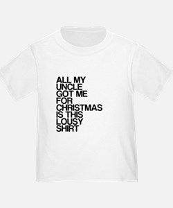 Uncle, Lousy Christmas Gift, T