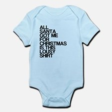 Santa, Lousy Christmas Gift, Infant Bodysuit