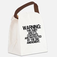 Warning, Protected By 2nd Amendment Canvas Lunch B