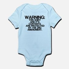 Warning, Protected By 2nd Amendment Onesie