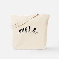 Evolved To Ski Tote Bag