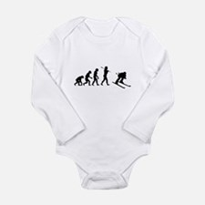 Evolved To Ski Long Sleeve Infant Bodysuit