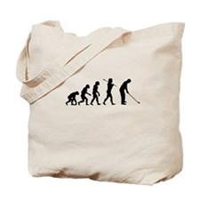 Golfer Evolution Tote Bag