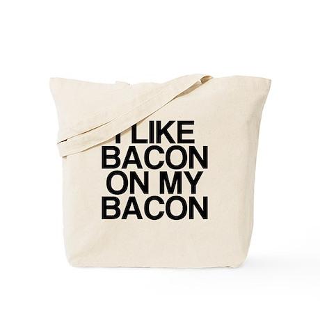 I Like Bacon on my Bacon Tote Bag