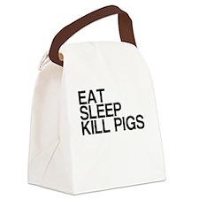 Eat. Sleep. Kill Pigs. Canvas Lunch Bag