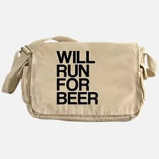 WILL RUN FOR BEER Messenger Bag