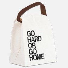 Go Hard or Go Home, Aged, Canvas Lunch Bag