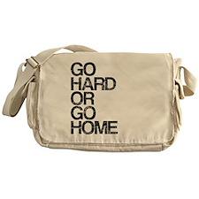 Go Hard or Go Home, Aged, Messenger Bag