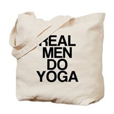 Real Men Do Yoga Tote Bag