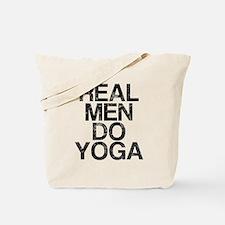 Real Men Do Yoga, Vintage, Tote Bag