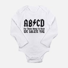 ABCD, We Salute You, Long Sleeve Infant Bodysuit